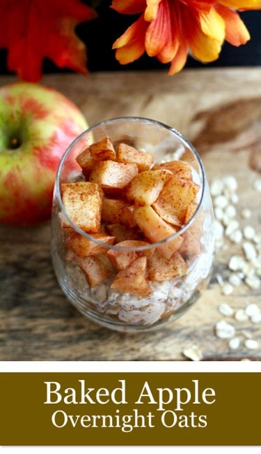 Baked apple overnight oats pinterest image