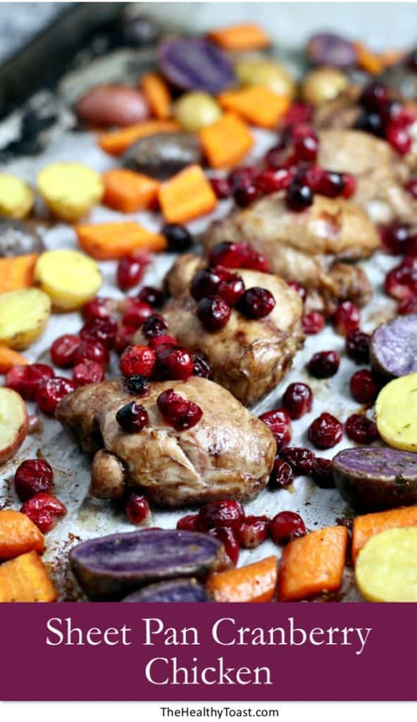 Sheet pan cranberry chicken pinterest image