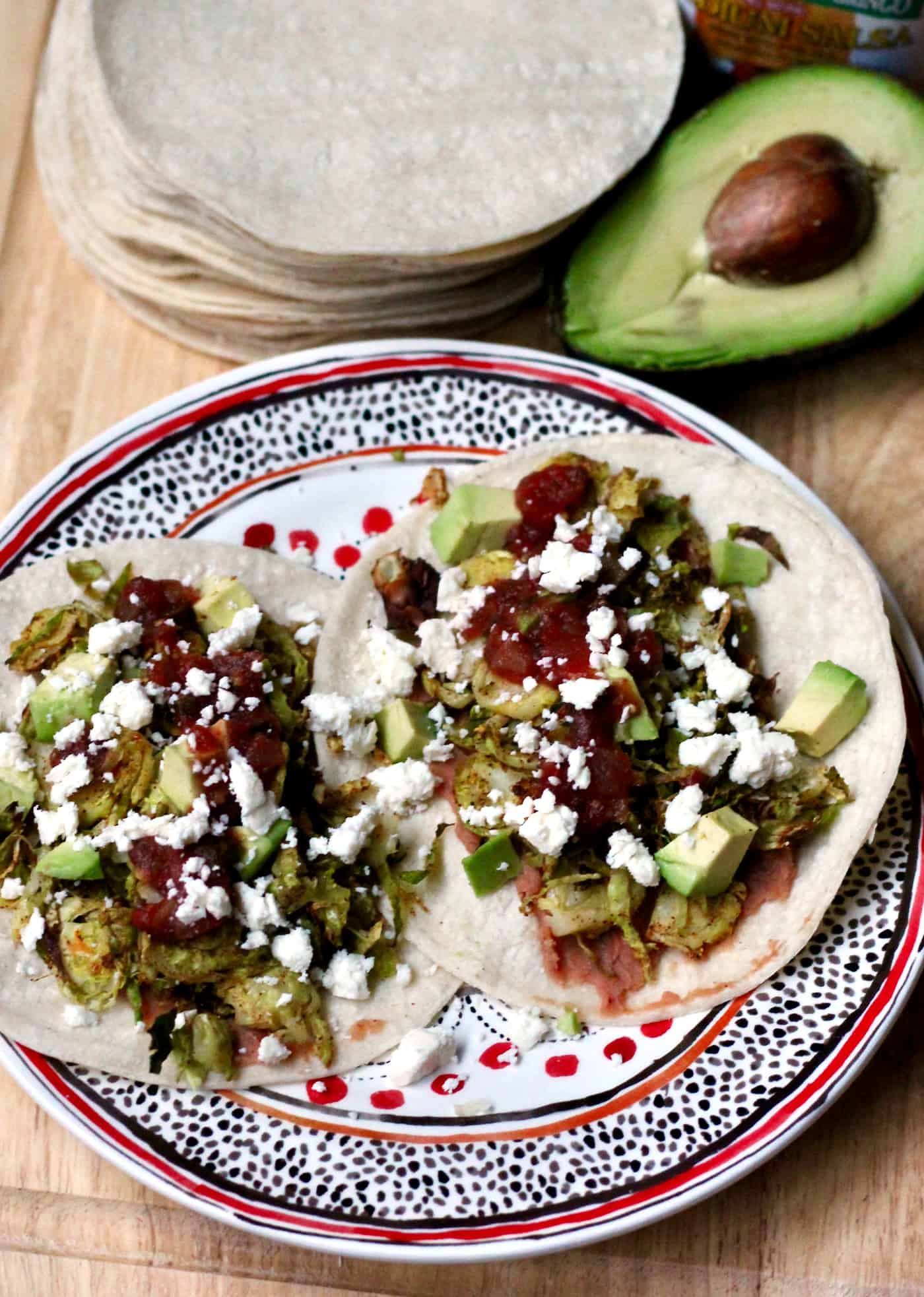 Chili-Roasted Brussels Sprouts Tacos