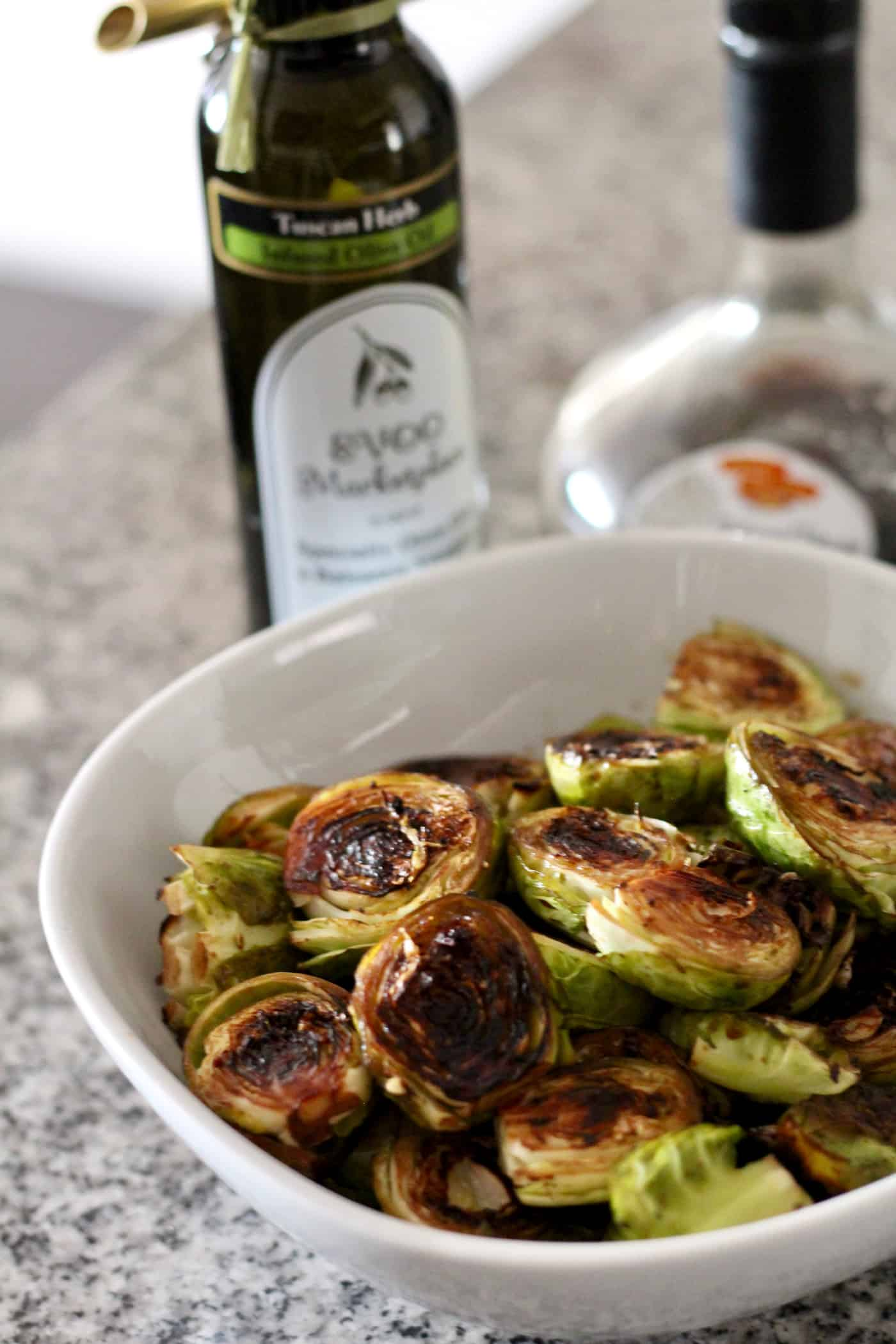 Simple Balsamic Roasted Brussels Sprouts