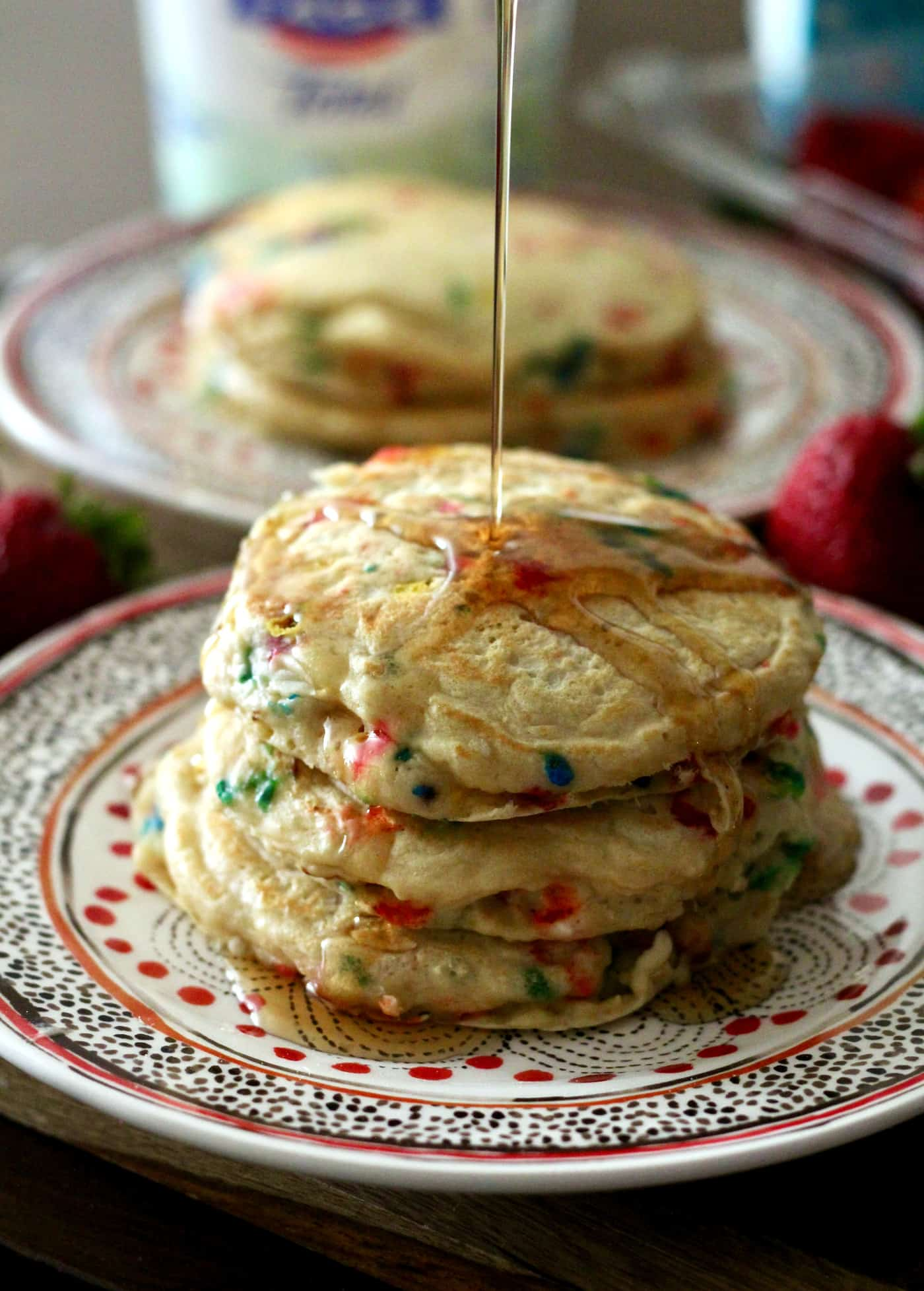 Fluffy Greek Yogurt Birthday Pancakes