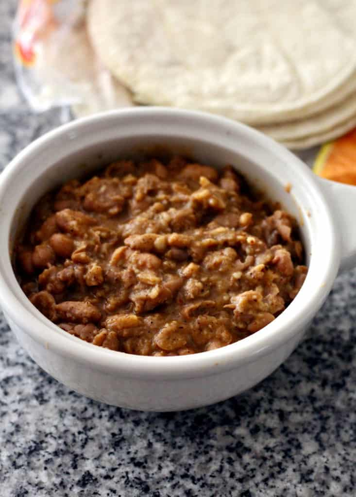 Healthy refried beans