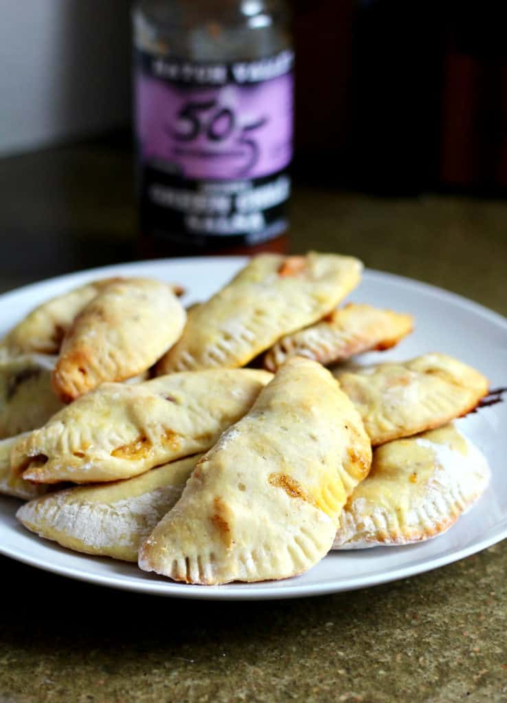 Plate of sweet potato and black bean empanadas