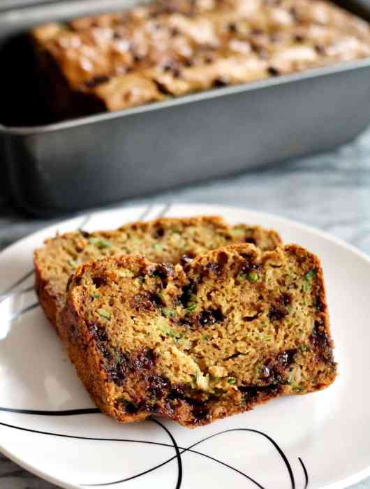 Slices of Low-Carb, High Protein Zucchini Bread