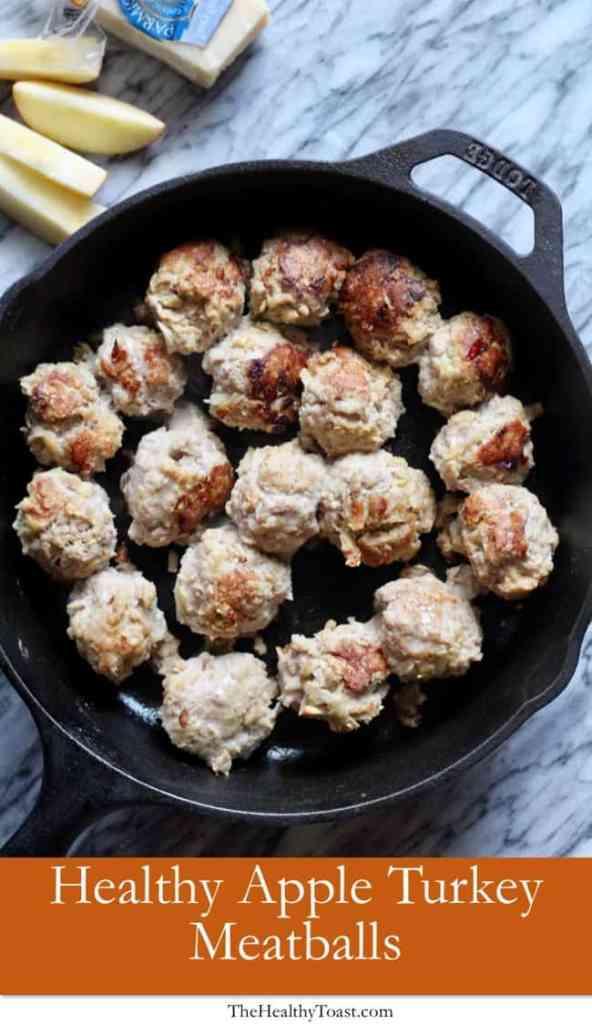 Healthy Apple Turkey Meatballs