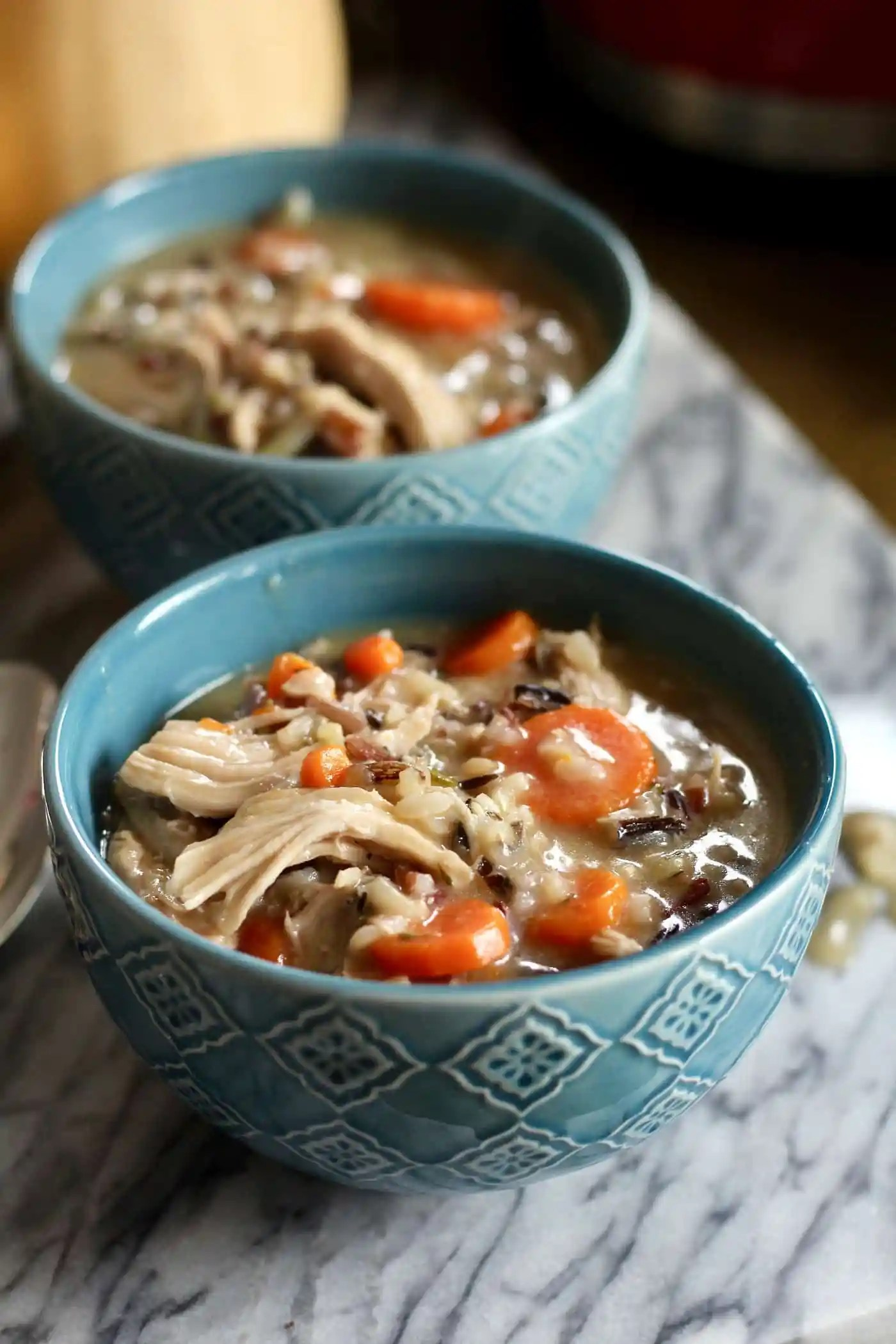 Lightened Up Turkey and Wild Rice Soup