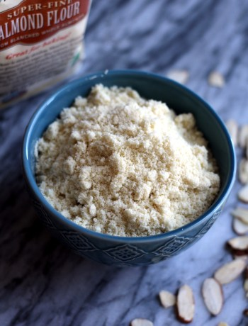 Bowl of almond flour