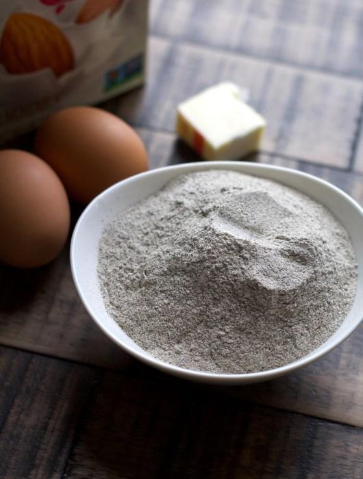 Bowl of buckwheat flour