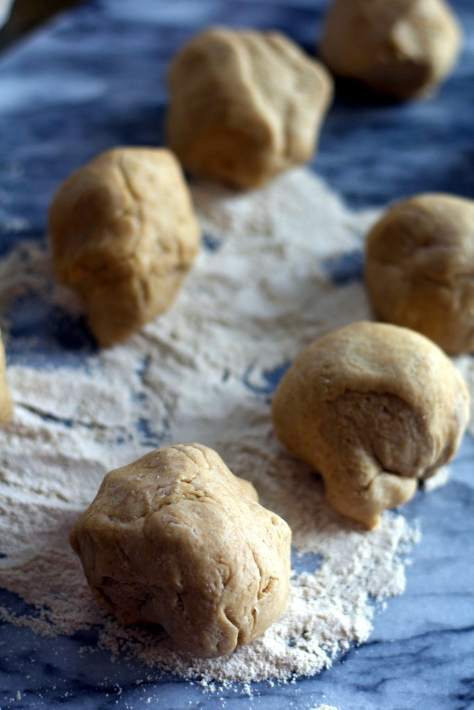 Whole wheat tortilla dough balls