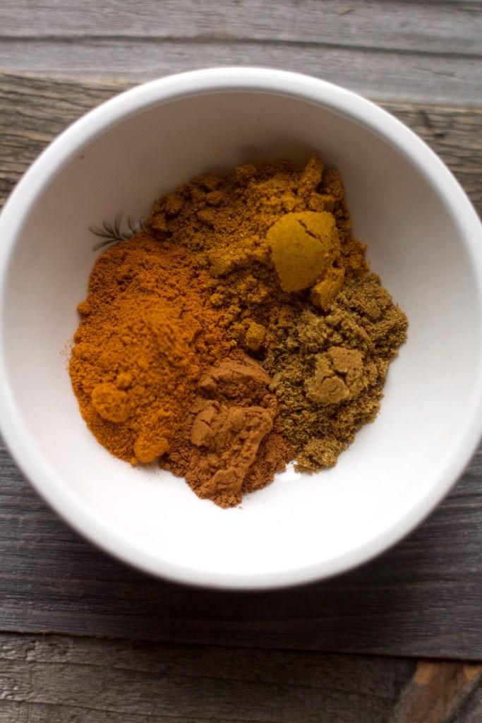 Turmeric and cumin in bowl
