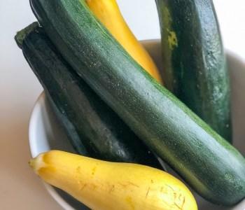 Bowl of zucchini and yellow squash