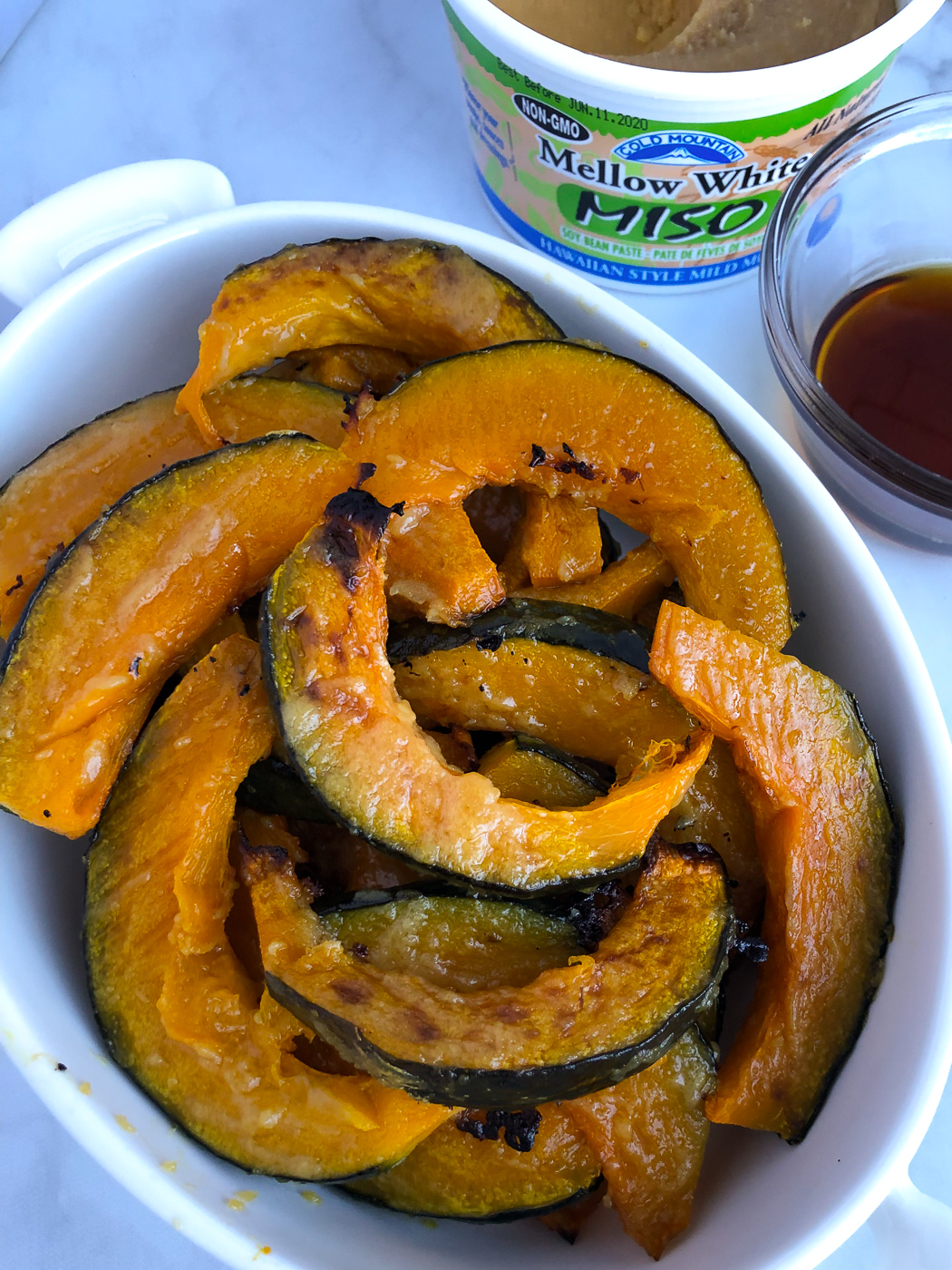 Miso Glazed Roasted Kabocha Squash