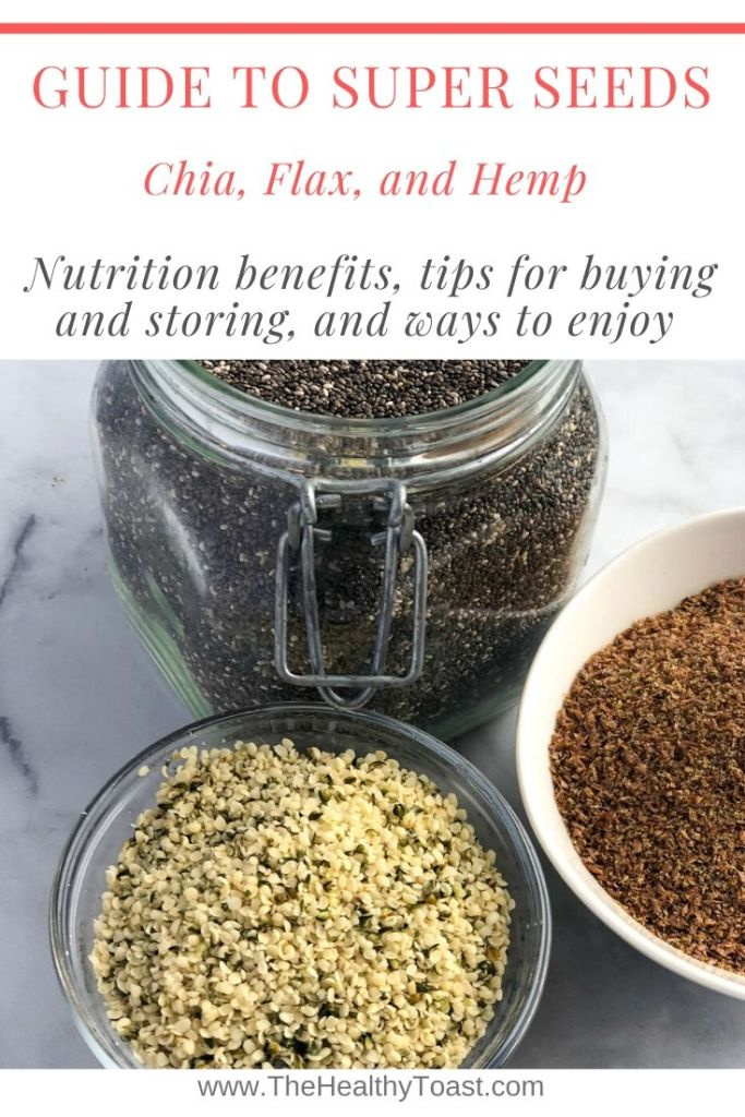 Dietitian Guide to Chia, Flax, and Hemp Seeds