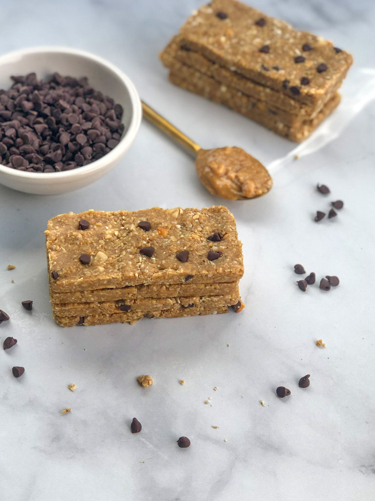 Healthy Homemade Peanut Butter Cookie Dough Protein Bars