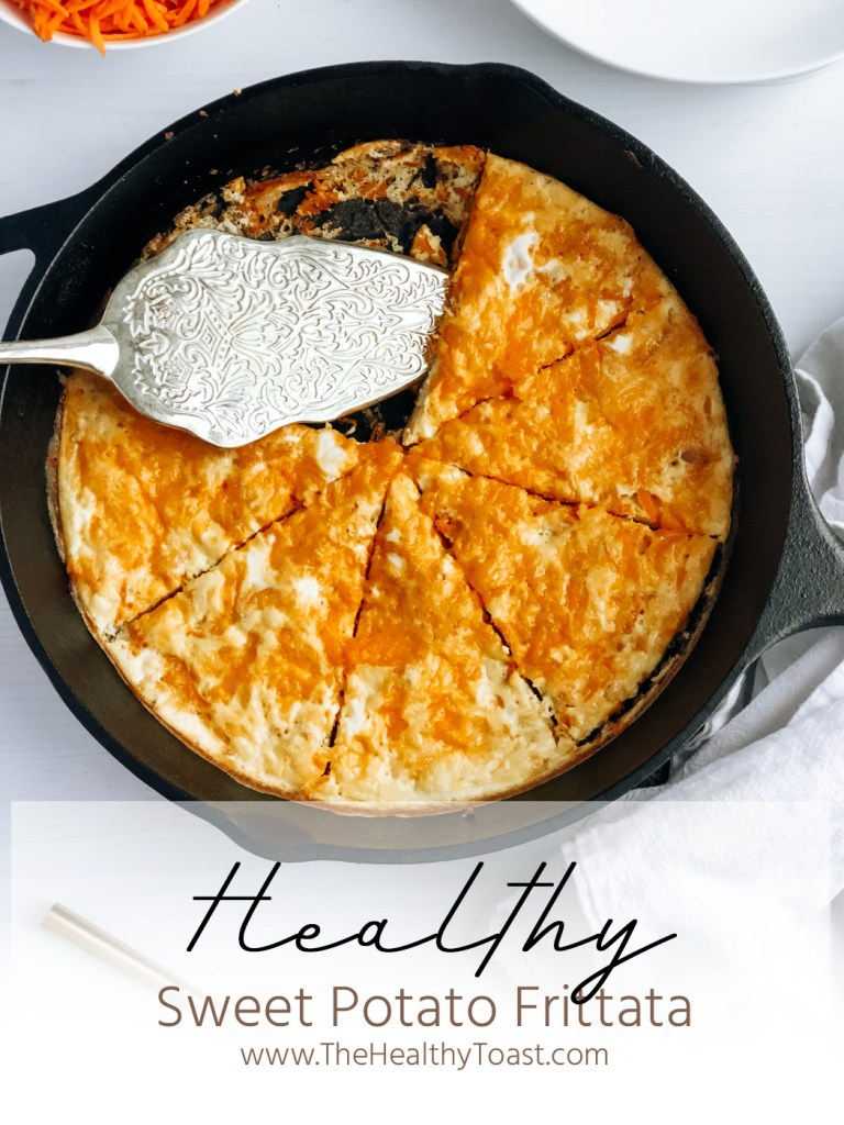With just 5 ingredients and ready in less than 30 minutes, this healthy sweet potato frittata is an easy breakfast win! - TheHealthyToast.com