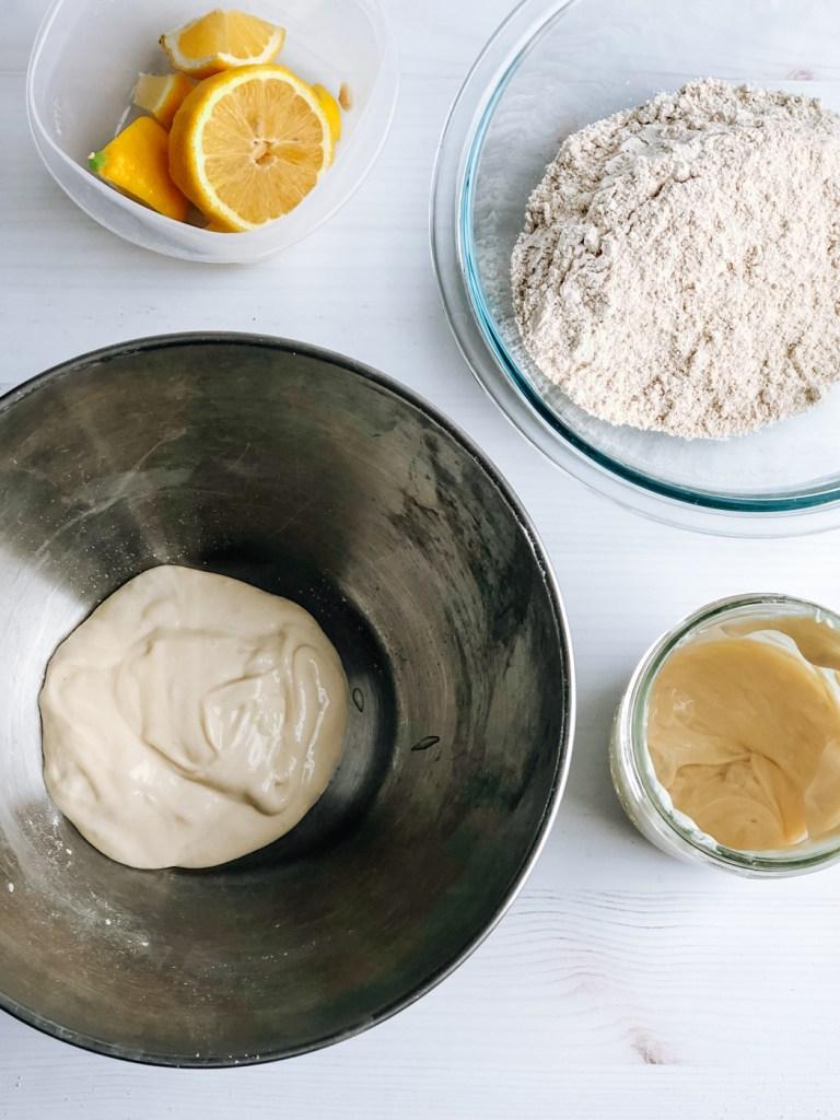 Making sourdough pancake sponge