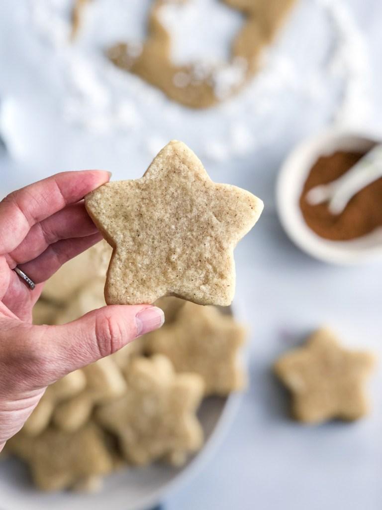 holding chai sugar cookies