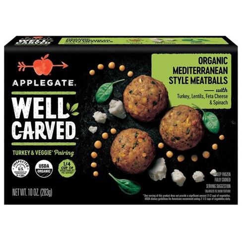 box of applegate med meatballs
