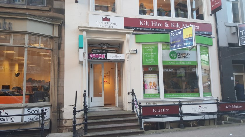 The Hearing Clinic UK - 39 Bath Street, Glasgow to let due to relocation