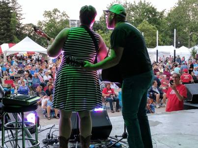 Amanda Lynn Stubley performing with Martin Horak at Home County Music and Art Festival 2017