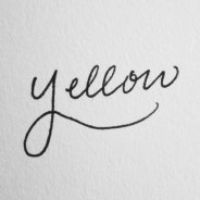 Hand Lettering: 4 Key Observations from One Beginner to Another: Yellow