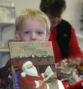 Andrew Dorris, 5, of Blue Mountain accompanied his mother Tami and grandmother Cheryl McDonald to the holiday bazaar.