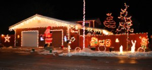 Tim Leff and Andrea Harmon's house at 426 Water St. in Meeker was judged the residential winner in the Holiday Lighting Contest.