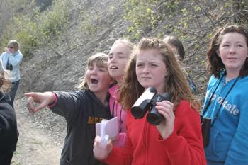 Members of Keri Grieser's fifth-grade class from Meeker Elementary School took part in celebrating International Migratory Bird Day.