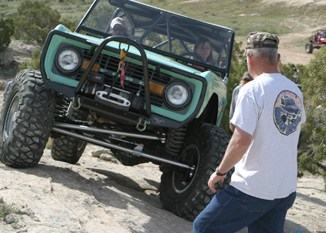 Kevin Williams of the Rangely Rock Crawling Club was a spotter at a women's rock crawling event over Mother's Day weekend. The club will sponsor its annual trail ride and competition this weekend.
