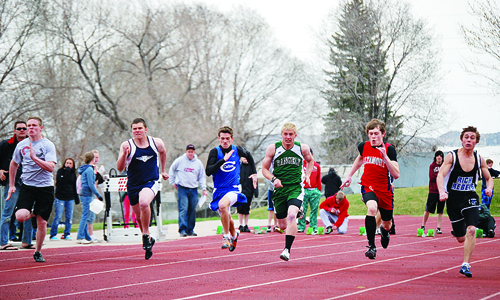 Rangely senior Cole Barlow finished fourth in the 200-meter dash with a time of 24.11. Photo by Cody Brunton