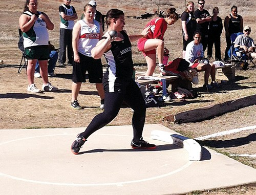 Juniors Tala Atoafa and Bailey Atwood both improved their career bests and won events in the track meet held in Hotchkiss. Atoafa hopped, skipped and jumped more than three feet better than he ever has to win the triple jump. Atwood improved in both the shot put and discuss to win each event.