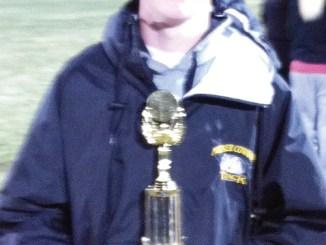 Meeker High School freshman Jake Phelan was awarded the Colter Gavito Memorial award for having the best triple jump mark among freshmen and sophomores last week at Coal Ridge.