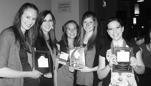 More than 20 Meeker High School students competed at the state FCCLA conference in Denver last week and five qualified for the national conference. Amanda Kendall, Jordan Brown, Piper Haney, Aly Ridings and Stephanie Joos will attend the national FCCLA conference in Orlando, Fla., July 8-10.