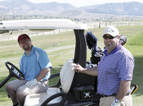 .C. Watt and Matt Fellows defended their title by winning the 27-hole, two-man scramble Sunday last at the Meeker Golf Course. The Bob Tucker Memorial will be played this Saturday.