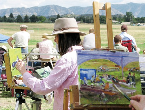 """Many events will be happening downtown starting with the Plein Air """"In the open air"""" art reception will be held downtown and art will be displayed and available for auction at the Meeker Public Library. The Run for Your Life 5K Walk/Run will start the July 4, celebration with registration starting at 6:30 a.m., the run starting at 7:30 a.m., and the walk at 8 a.m. The local Masonic Lodge will provide a Pancake Breakfast from 7-10 a.m."""