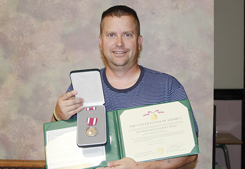 Brice Glasscock (above), a Staff Sergeant for the National Guard and member of the 928th Area Support Medical Battalion (ASMC) received the prestigious Meritorious Service Medal of Honor last week. Glasscock first enlisted in the U.S. Army in 1988, has been deployed three times and just reenlisted for six more years.