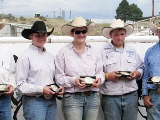 It was a rodeo that started the Range Call Celebration and it was a rodeo that ended the 127th annual Range Call Celebration. The Ranch Rodeo was the final event Sunday at the Rio Blanco County Fairgrounds. The Brennan team left the arena with the prestigious belt buckles. Riding for the Brennan team were Ryan and Kelsey Vroman,  Kari Brennan, Kash Atwood and Neil Brennan.
