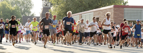 More than 265 people participated in the 2012 Run For Your Life 5K race last week. Rangely's William Scoggins (#504), who finished with a time of 17:14, was the winner.
