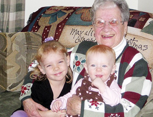 """In one word, """"grandma"""" best describes Doris Welle. The name stuck when her grandchildren went through the school lunch line and her kind smile and sparkling blue eyes made it easy for other students to echo the name."""