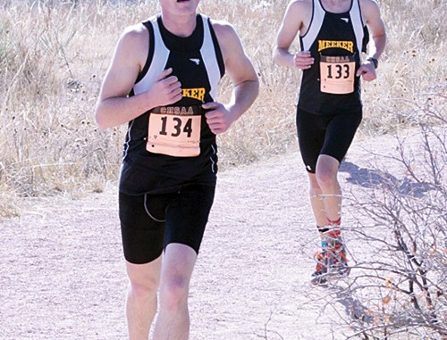 Meeker senior Lathrop Hughes and junior Jake Boesch both qualified and competed in the 2012 2A Colorado State Cross Country Championship meet in Colorado Springs last Saturday.
