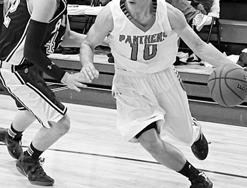 Panther junior Connor Phelan scored in all four quarters, including four three-pointers and led his team with 25 points against the Rams from South Routt County (Soroco).