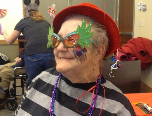 Eagle Crest resident Ruthann Chavez takes part in the first annual Winter Carnival, held Feb. 12 at Rangely District Hospital. Director Andrea Adams said the event gave residents an enjoyable afternoon out and a break from their normal routines.