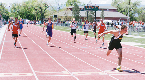 Meeker freshman T.J. Shelton lengthened his lead as the anchor in the 4x100-meter relay, an event they easily won. Shelton won the 100- and 200-meter dashes and also qualified for the state meet, anchoring the 4x200-meter regional championship relay team.