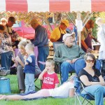The Lions Club barbecue drew a large crowd downtown on Saturday.