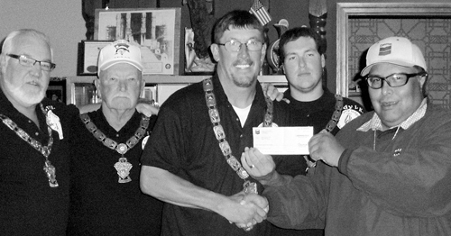 phrgchevron donation to elks lodge