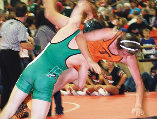 Panther senior Caleb Lawson won two matches in the Tournament of Champions and will represent his team in the 145-pound bracket Saturday in the first annual Vern Rose Memorial Tournament in Rangely, starting at 9 a.m.