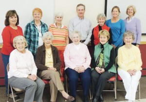 Members of the Meeker Investment Group met at Kilowatt Korner recently to celebrate their 20 years in existence. In the back row, from left are: Carol Hamilton, Melinda Parker, Jana K. Whitaker, broker and advisor Blaine Franklin, Ellen Reichert, Michele Morgan and Martha Elaine Cole. In the front row, from left, are members Bonita L. Carden, Leota Cook, Florence Hazelbaker, Connie Hughes and Sally Wilson. Members not present were Geraldine Camera, Artie Parr, Ethel Starbuck and Carolyn Sullivan.