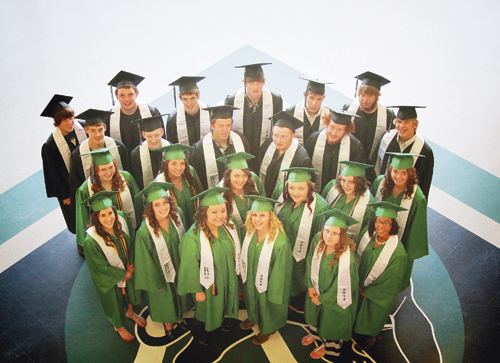 Twenty-five students were graduated from Rangely High School on Sunday afternoon in front of a high school auditorium filled with family members and supporters. Several students netted school honors and learned they were recipients of more than 25 scholarships announced during commencement exercises.
