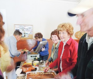 Members of the White River Community Association served up potatoes, other side dishes and salads for the more than 200 people who attended the Buford School benefit fish fry on Saturday at the Buford School, alongside County Road 17 about 20 miles east of Meeker. The funds raised go toward upkeep on the school, which is listed on the Colorado Register of Historic Places, having been built in 1889 near what is now Lake Avery.