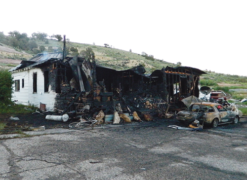 This home in Piceance Creek was destroyed by fire during weekend.